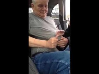 man stuck in seat belt