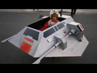 Jeremy''s Snowspeeder in action!