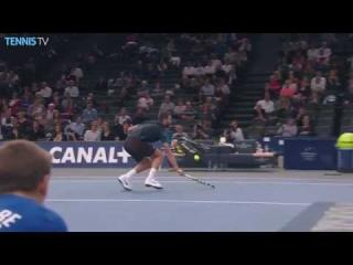 Benoit Paire Backspin Drop Volley Hot Shot Paris 2015
