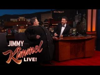 "Ben Affleck Sneaks Matt Damon Onto ""Jimmy Kimmel Live!''"