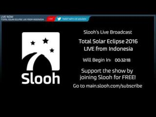 Total Solar Eclipse Live from Indonesia