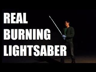 Real Burning Lightsaber from Star Wars! | Sufficiently Advanced