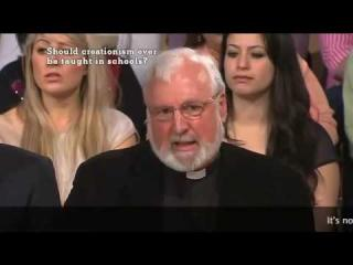 Priest Mocks Creationist