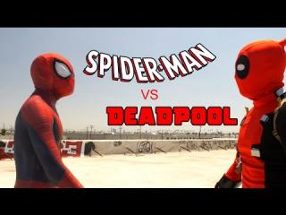 Spider-Man vs Deadpool - Rooftop Battle