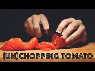 ASMR [Un] Chopping Tomatoes (4K)