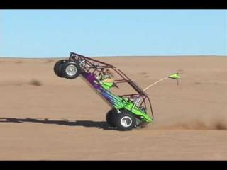 Kid does awesome sandrail wheelie at Glamis Dunes.
