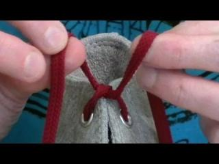 The ''Ian Knot'', the world''s fastest shoelace knot - Professor Shoelace