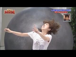 Japanese Girl Gets Crushed By A Giant Ball - Japanese Prank