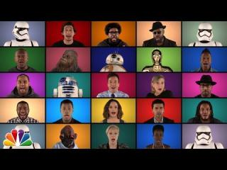 Jimmy Fallon, The Roots & ''Star Wars: The Force Awakens'' Cast Sing ''Star Wars'' Medley (A Cappella)